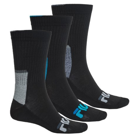 Fila Color-Block Socks - 3-Pack, Crew (For Men)