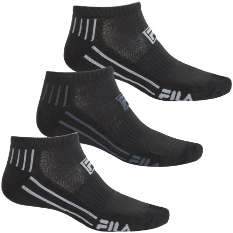 Fila Dual Angle Striped Socks - 3-Pack, Below the Ankle (For Men)