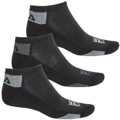 Fila Mini Stripe Socks - 3-Pack, Below the Ankle (For Men)