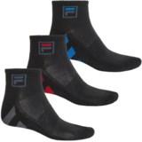 Fila Striped Sole Socks - 3-Pack, Quarter Crew (For Men)