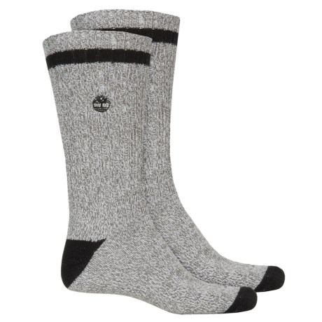 Timberland Marled Casual Socks - 2-Pack, Crew (For Men)
