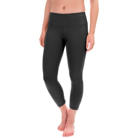 Yogalicious Ruched Back Seam Capris (For Women)