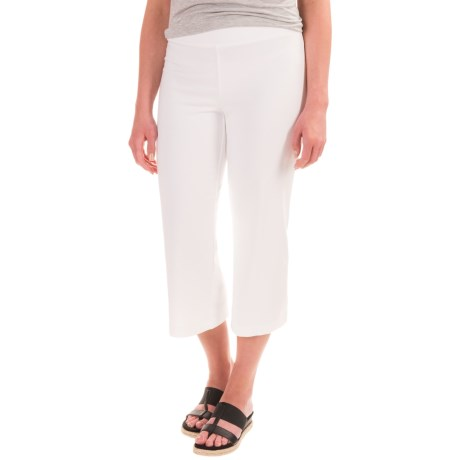 Specially made Cotton-Blend Wide-Leg Cropped Pants (For Women)