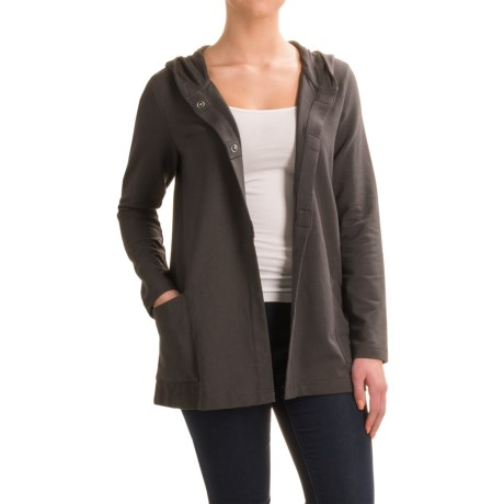 Specially made Pima Cotton Blend Hooded Jacket (For Women)