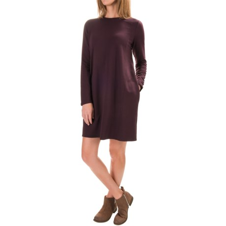 Specially made Stretch-Knit Shift Dress - Long Sleeve (For Women)
