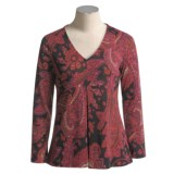 Thought Drape Front Blouse - Long Sleeve (For Women)