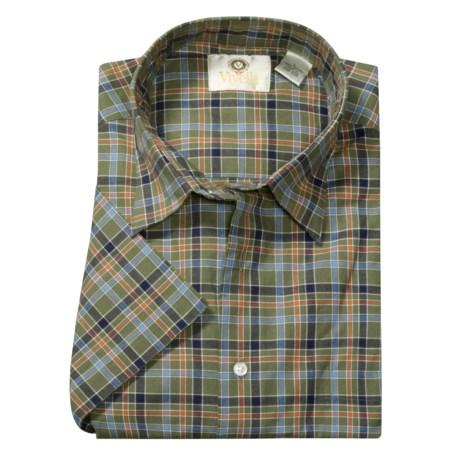 Viyella Cotton Plaid Sport Shirt - Short Sleeve (For Men)
