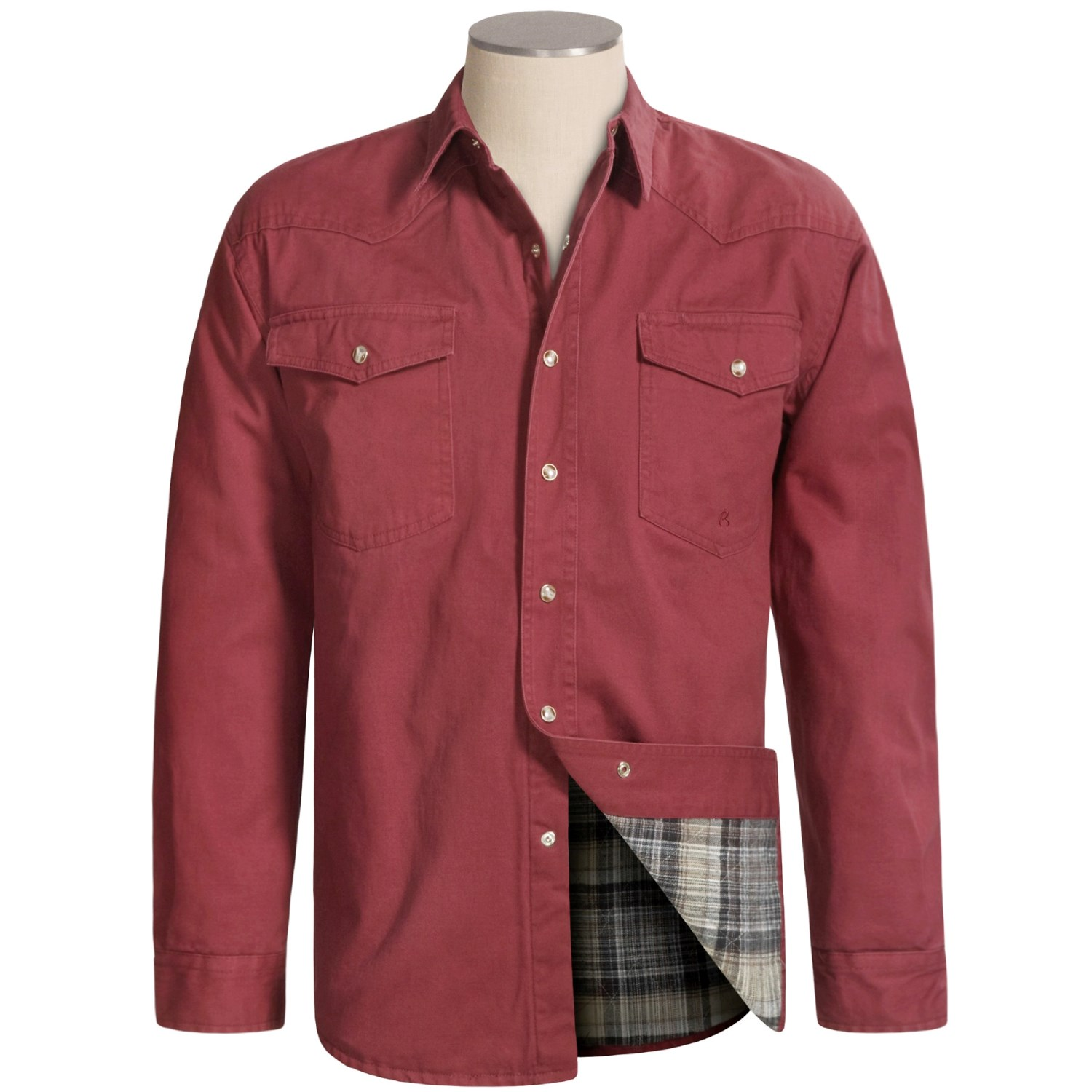 Roper flannel lined shirt jacket for tall men 2285c for Mens insulated flannel shirts