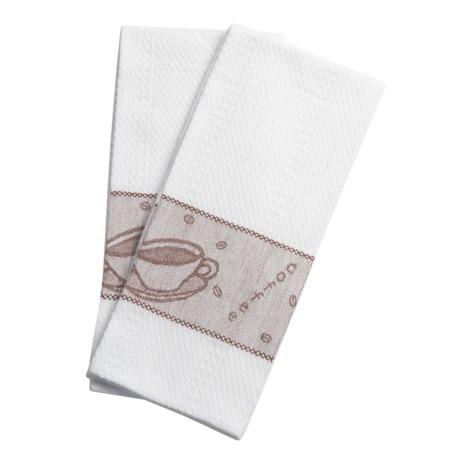 Lintex Coffee Cup Kitchen Towel Set - Jacquard, 2-Piece