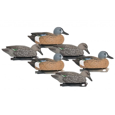 Hardcore Pro-Series Bluewing Teal Decoys - 6-Pack