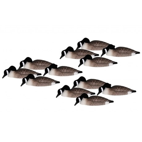 Hardcore Canada Goose Shell Feeder Decoys - 12-Pack