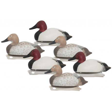 Hardcore Pro-Series Canvasback Decoys - 6-Pack