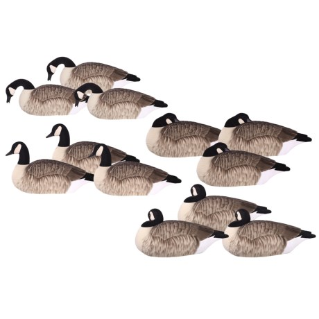 Hardcore Elite-Series Canada Goose Shells Fully Flocked Touchdown Decoys - 12-Pack