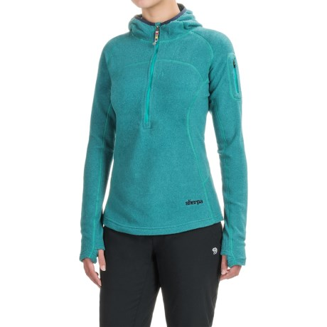 Sherpa Adventure Gear Karma Fleece Hoodie - Zip Neck (For Women)