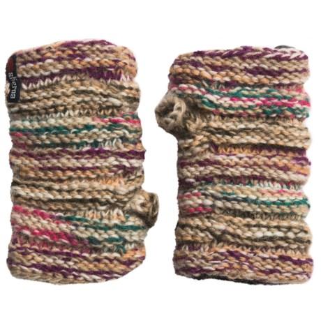 Sherpa Adventure Gear Rimjhim Fingerless Gloves - Lambswool, Fleece Lined (For Women)