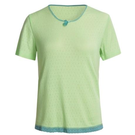 Wildbleu Heat Release Technology Shirt - Lace Hem, Short Sleeve (For Women)