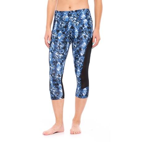 Balance Collection Jenna Printed Capri Leggings (For Women)