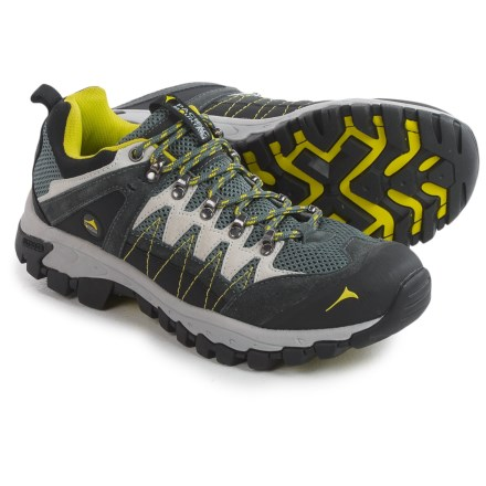 Pacific Mountain Crater Low Hiking Shoes (For Men) in Gunmetal/Nimbus/Sulphur Spring - Closeouts