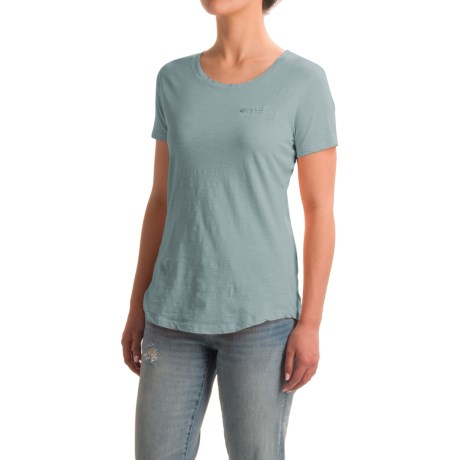 North River Solid Slub-Knit Shirt - Short Sleeve (For Women)