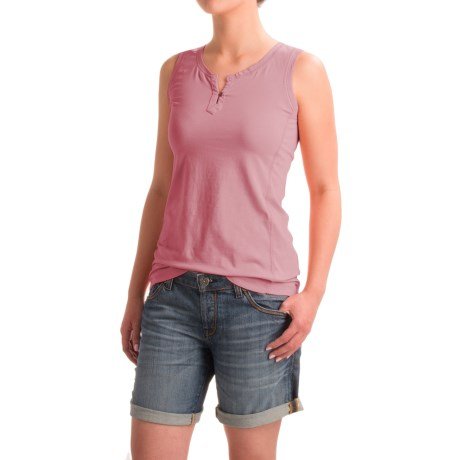 North River Solid Split Neck Tank Top (For Women)