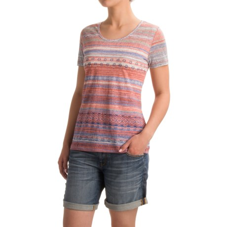 North River Printed Burnout Shirt - Short Sleeve (For Women)