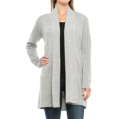 Adrienne Vittadini Double-Knit Cardigan Sweater - Merino Wool Blend, Shawl Collar (For Women)