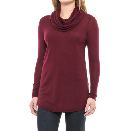 Cynthia Rowley Cowl Neck Tunic Sweater - Merino Wool (For Women)