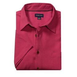 Toscano Silk Shirt - Short Sleeve (For Men)