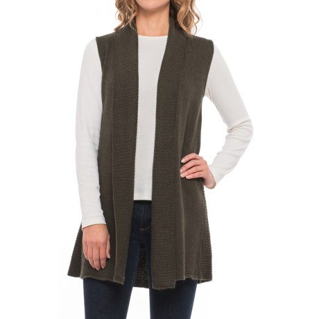 Max Studio Shawl Collar Cardigan Sweater Vest (For Women)
