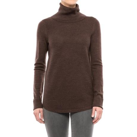 Adrienne Vittadini Merino Wool Cashfeel Turtleneck Sweater (For Women)