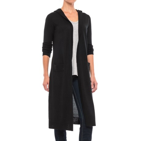 Kenar Merino Wool Blend Cardigan Sweater - Hooded (For Women)