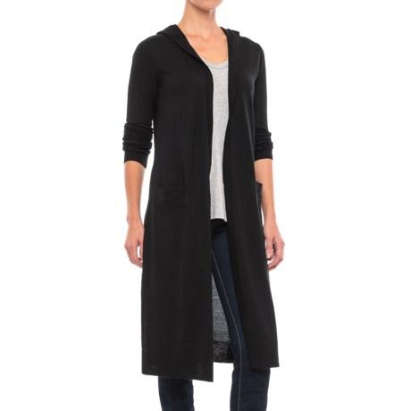 Kenar Merino Wool Blend Cardigan Sweater - Hooded (For Women)