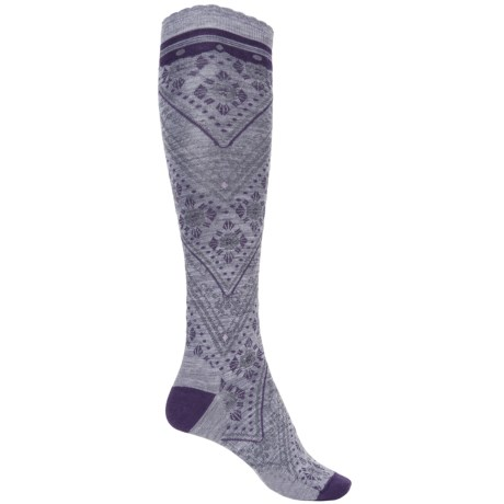 SmartWool Lingering Lace Knee-High Socks - Merino Wool, Over the Calf (For Women)