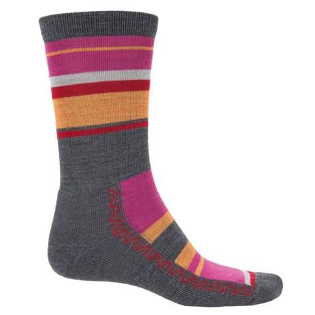 Point6 Multi-Stripe Lightweight Socks - Merino Wool, Crew (For Men and Women)