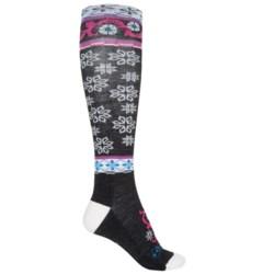 Point6 Ornament Extra-Light Socks - Merino Wool, Over the Calf (For Women)