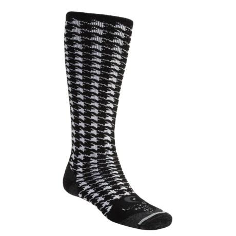 Lorpen Freeride Houndstooth Ski Socks - Midweight, Italian Merino Wool (For Men and Women)