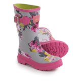 Joules Grey Bloom Rain Boots - Waterproof (For Little and Big Girls)