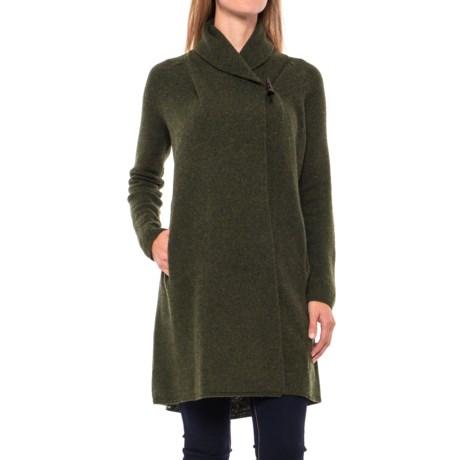 Adrienne Vittadini Shawl Collar Long Cardigan Sweater - Wool-Yak (For Women)