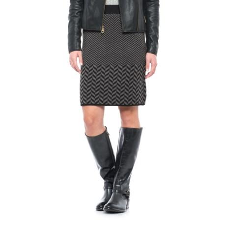 Kenar Chevron Pattern Sweater Skirt - Wool (For Women)