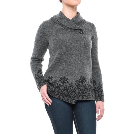 Adrienne Vittadini Shawl Collar Sweater Jacket (For Women)