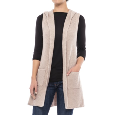 Tahari Hooded Sweater Vest - Open Front (For Women)