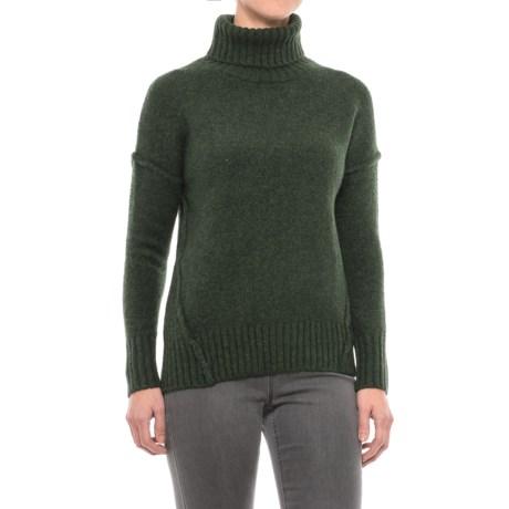 Adrienne Vittadini Recovery Yarn Turtleneck Sweater - Wool Blend (For Women)
