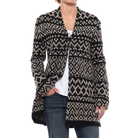 Artisan NY Jacquard Cardigan Sweater (For Women)