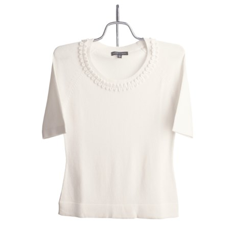 Audrey Talbott Lette Sweater - Rayon-Cotton, Short Sleeve (For Women)