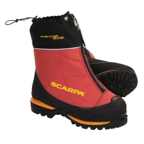 Scarpa Phantom 6000 Mountaineering Boots - Waterproof, Themo Liner (For Men and Women)