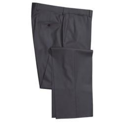 Riviera Italian Wool Serge Pants - Flat Front (For Men)
