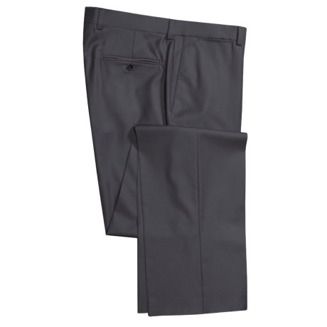 Riviera Italian Wool Serge Pants - Flat Front (For Men)