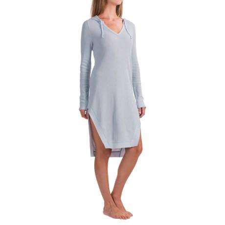 Yummie by Heather Thomson Hoodie Night Shirt - Long Sleeve (For Women)