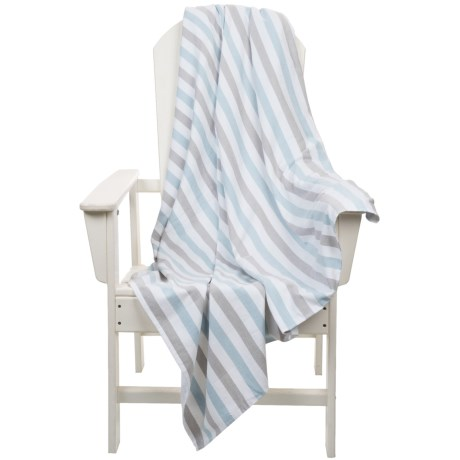 The Turkish Towel Company Beach Blanket - Turkish Cotton, Carry Handle, 60x60""
