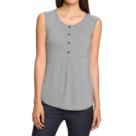 NAU M2 Jersey Henley Shirt - Merino Wool, Sleeveless (For Women)